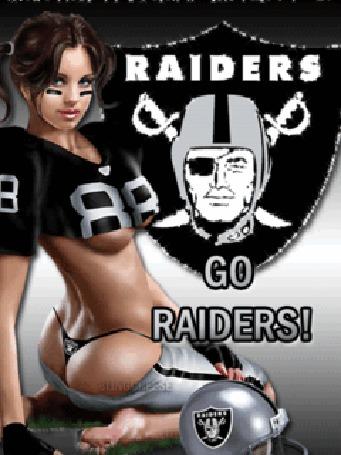 Фото Девушка из группы поддержки команды 'raiders'