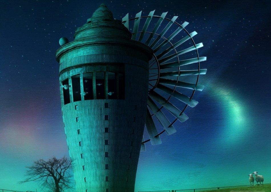 ветренная мельница фото: