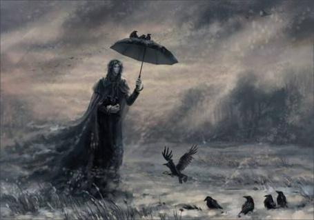 Фото мужчина и вороны (© Флориссия), добавлено: 01.03.2011 19:23