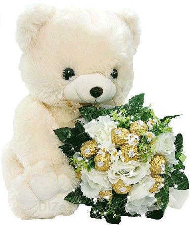Фото Игрушка-медвежёнок  с букетом роз... (© Volkodavsha), добавлено: 01.03.2011 21:48