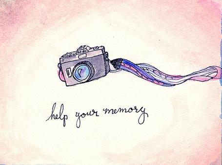 Фото Нарисованный фотоаппарат (Help your memory)