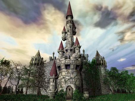Фото Старинный замок с башенками (© Volkodavsha), добавлено: 03.03.2011 23:25
