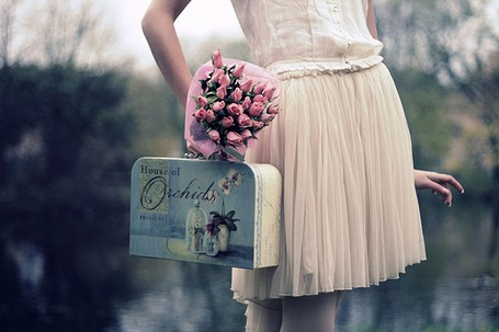 Фото Девушка,розовые розы,винтажный чемоданчик (© TARAKLIA), добавлено: 06.03.2011 09:10