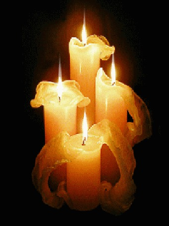 Фото Красивые горящие свечи (© Volkodavsha), добавлено: 14.03.2011 14:55