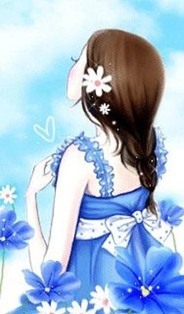 Фото Девушка в голубом платье (© Юки-тян), добавлено: 15.03.2011 15:59