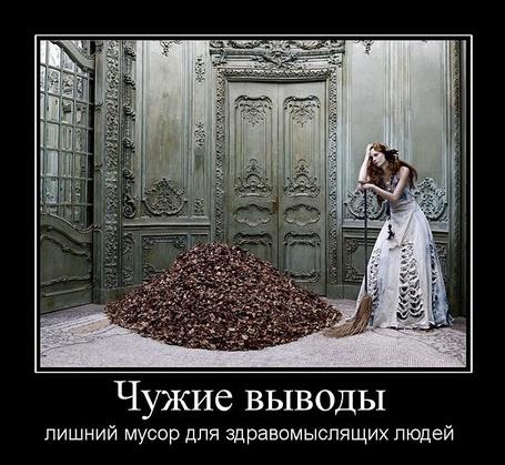 Фото Чужие выводы, лишний мусор для здравомыслящих людей (© Флориссия), добавлено: 24.03.2011 20:11