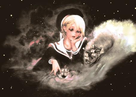 Фото Девочка играет с кораблями галактик (© Флориссия), добавлено: 30.03.2011 17:56