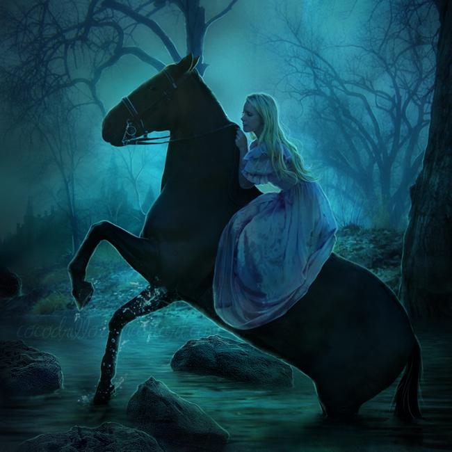 Фэнтези картинки девушка на лошади