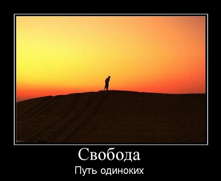я выбираю путь одиночества картинка нарезать