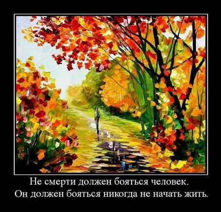 Фото Не смерти должен бояться человек. Он должен бояться никогда не начать жить (© Флориссия), добавлено: 03.04.2011 19:44