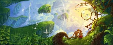 Фото Адам и Ева в раю