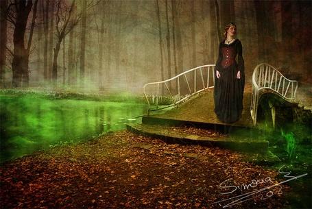 Фото Девушка спускается с мостика (Simona 208)