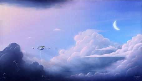 Фото Парящий в небе островок (© Флориссия), добавлено: 06.04.2011 14:13