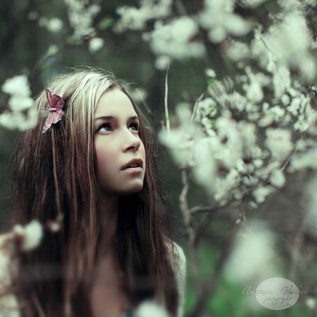 Фото Девушка в лесу, бабочка, пролетавшая мимо, села ей на голову, фотограф Анастасия Волкова / Anastasia Volkova (© ColniwKo), добавлено: 06.04.2011 14:36