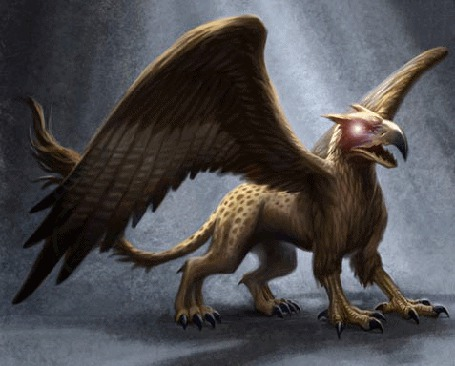 Фото Грифон - крылатое чудовище с львиным туловищем и головой орла, страж золота