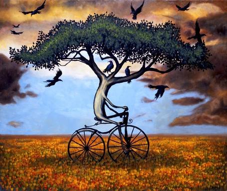 Фото Дерево едет на велосипеде (© Флориссия), добавлено: 13.04.2011 20:39