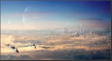 Фото Корабли пришельцев летят к городу (© Флориссия), добавлено: 19.04.2011 13:55