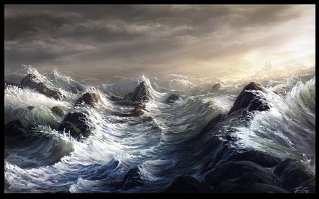 Фото Шумное море