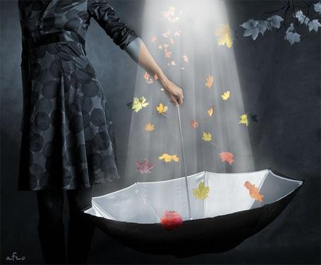 Фото Девушка ловит зонтиком листья (© Штушка), добавлено: 22.04.2011 17:07