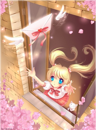 Фото Девочка пытается поймать улетевшее от неё любовное письмо (© Юки-тян), добавлено: 24.04.2011 14:43