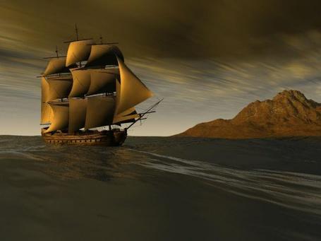 Фото Корабль в море (© Штушка), добавлено: 29.04.2011 17:08
