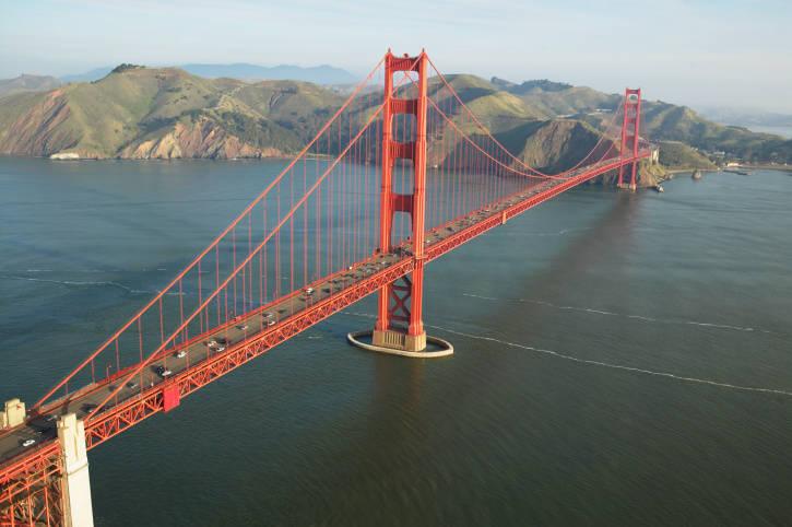 Мост золотые ворота golden gate bridge в сан