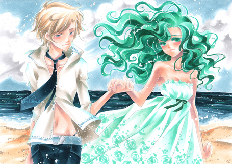 Фото Харука и Мичиру, аниме 'Сейлор Мун' (© Юки-тян), добавлено: 02.05.2011 13:12