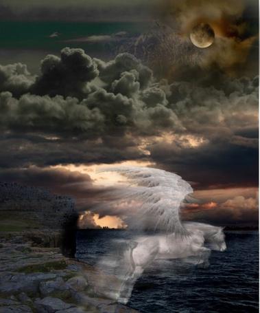 Фото Дух пегаса прыгающего с обрыва (© Штушка), добавлено: 07.05.2011 15:43