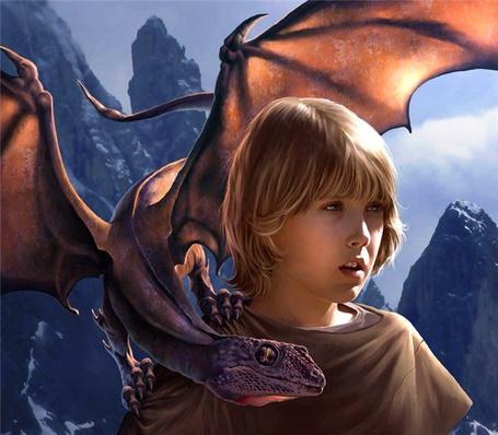 Фото Мальчик с драконом (© Штушка), добавлено: 07.05.2011 15:53