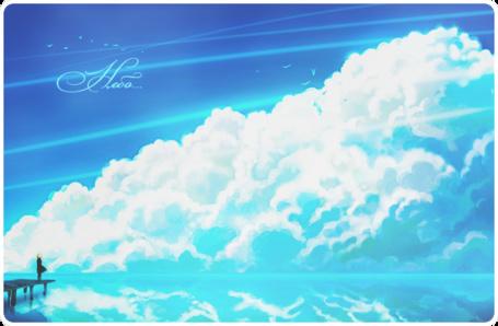 Фото Девушка стоит на пирсе и смотрит на облака (Небо...) (© D.Phantom), добавлено: 16.05.2011 07:17