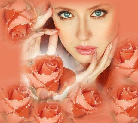 Фото Лицо девушки и розы (© Volkodavsha), добавлено: 17.05.2011 03:09