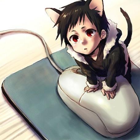 Фото Кавайный Изая с мышкой (anime Durarara) (© D.Phantom), добавлено: 18.05.2011 01:13