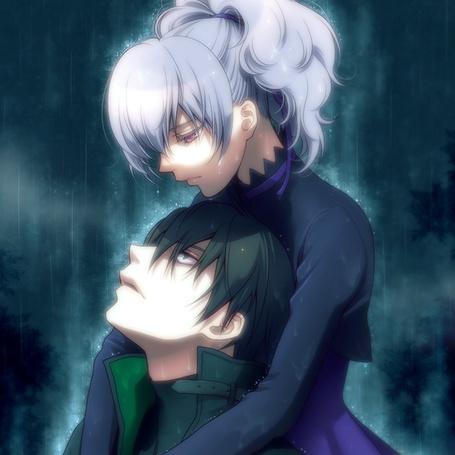 Фото Инь и Хэй под дождем (аниме 'Темнее Чёрного)' (© Шепот_дождя), добавлено: 21.05.2011 22:59