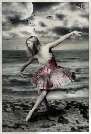 Фото Балерина на фоне моря (© Флориссия), добавлено: 22.05.2011 15:03