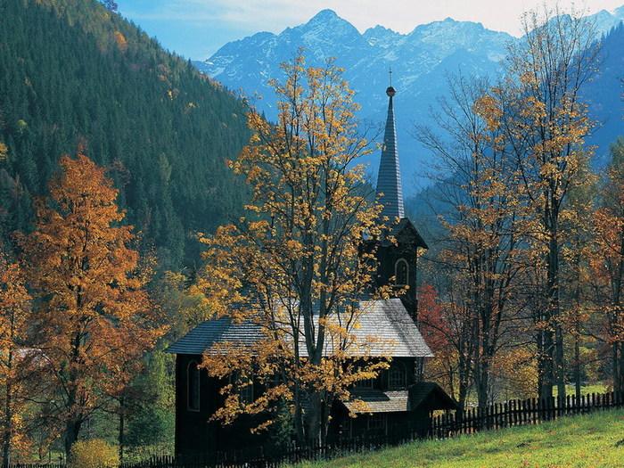 Картинка осень в горах