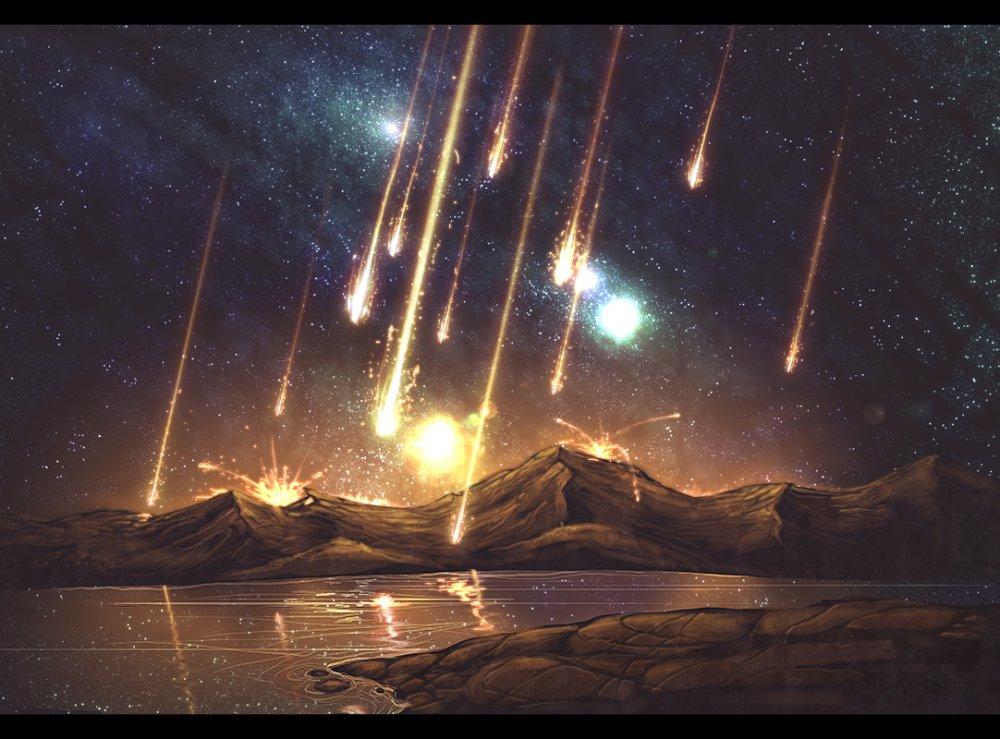 Фото метеоритный дождь
