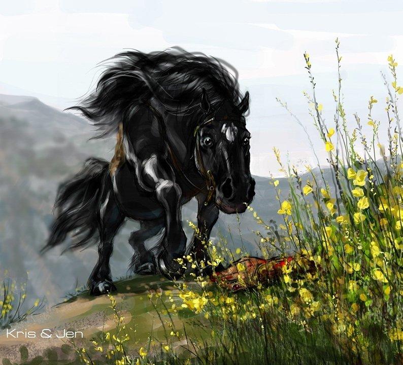 Картинка лошадь уставшая
