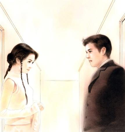 Фото Влюблённые робко смотрят друг на друга (© Флориссия), добавлено: 01.06.2011 19:07