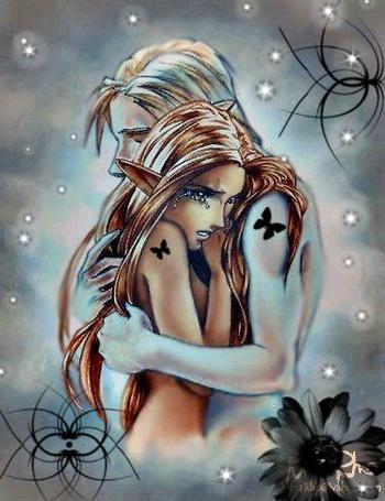 Фото Эльфийка рыдает на плече своего парня