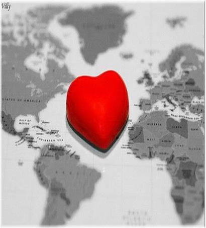 Фото Красное сердце посреди карты (© Radieschen), добавлено: 04.06.2011 16:19