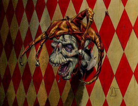 Фото Голова шута на стене (© Alexsey11), добавлено: 04.06.2011 22:36