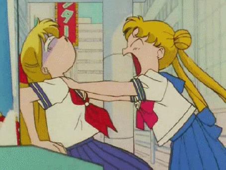 Фото Минако и Усаги, аниме 'Сейлор Мун' (© Юки-тян), добавлено: 05.06.2011 13:17