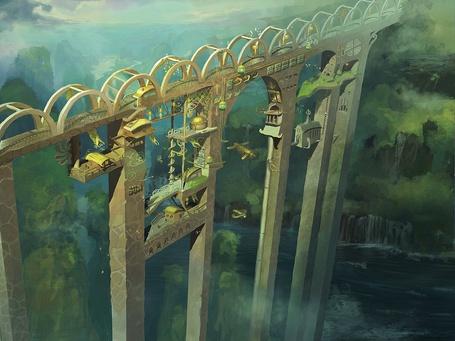Фото Домики эльфов на мосту (© Флориссия), добавлено: 07.06.2011 20:27