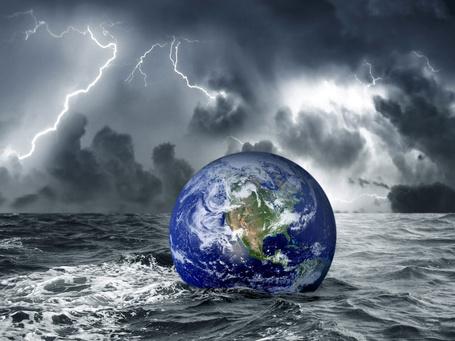 Фото Земной шар в бушующем море (© Volkodavsha), добавлено: 08.06.2011 20:12