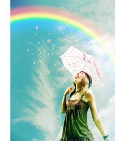 Фото Девушка под зонтом. Радуга (© Юки-тян), добавлено: 12.06.2011 14:48