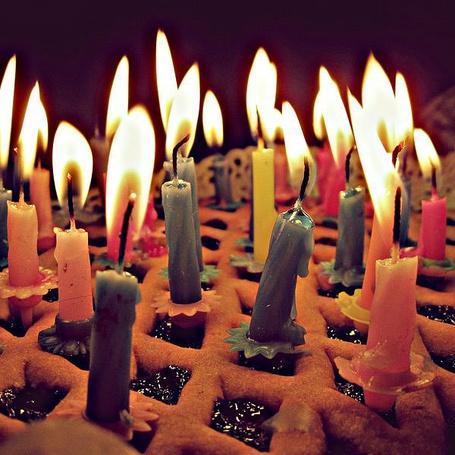 Фото Свечи в пироге