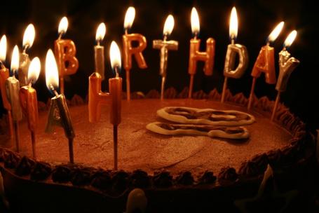 Фото Торт со свечками (Happy Birthday) (© Юки-тян), добавлено: 14.06.2011 16:29