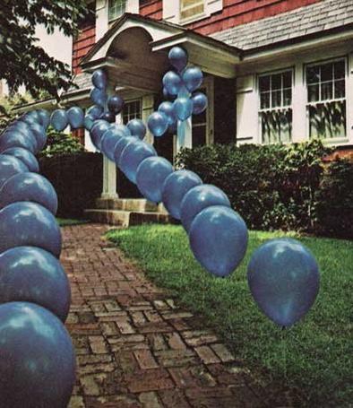 Фото Дорога к дому в шариках