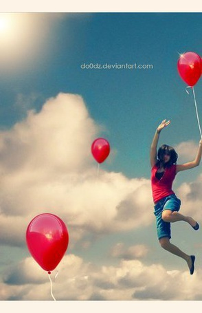 Фото Девушка с воздушным шаром (© Юки-тян), добавлено: 14.06.2011 20:18