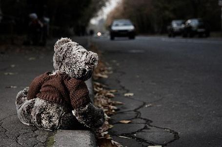 Фото Одинокий мишка на бордюре (© Юки-тян), добавлено: 18.06.2011 16:56